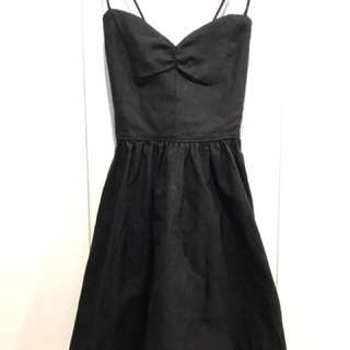 American Apparel Cross Back Black Dress