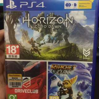 3in1 Horizon Zero Dawn+Drive Club+Ratchet Clank