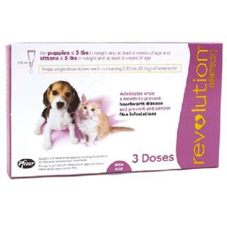 Revolution (Pink) For Puppies & Kittens (Flea and Heartworm Prevention and Treatment)