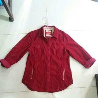 Osella Bludru Maroon Shirt