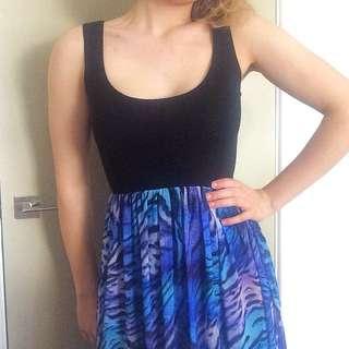 Vibrant Blue And Black Forever New Dress