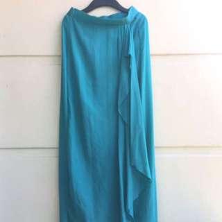 Turquoise Chiffon Skirt