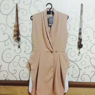 Blazer dress nude O-La-Go