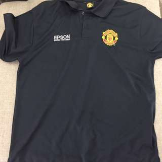 MANCHESTER UNITED OFFICIAL POLO SHIRT BLACK
