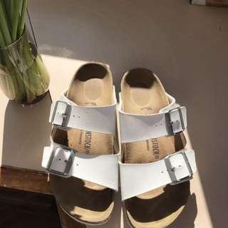White Birkenstocks - Size 37
