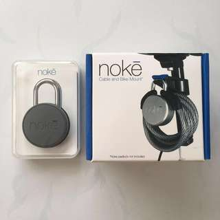Noke Smart Padlock + Cable & Bike Mount