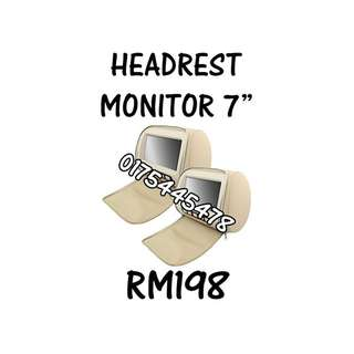 Headrest Monitor AV 7""