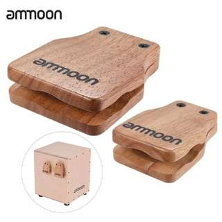 Ammoon 2pcs Castanets For Cajon Accessories