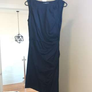 Marcs Navy Work Dress - Size 8