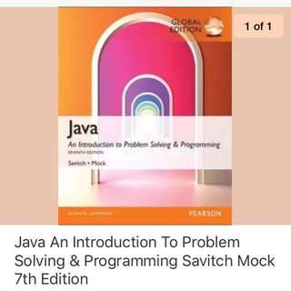 Java an introduction to problem solving & programming savitch mock 7th edition
