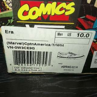 Limited Edition Brand New In Box  Vans Era Marvel ( Captain America)  US 10