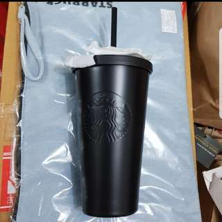 Starbucks Black Matt Cold Cup With Stainless Steel Straw