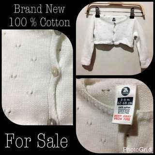 Crochet Cardigan, 100% Cotton Made In Spain. Repriced At P100.**