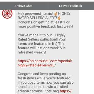thanks carousell admin
