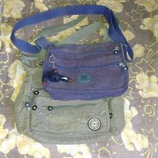 Bundle kiplings sling bags