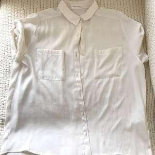 Lowrys farm雪紡袖子可調襯衫M