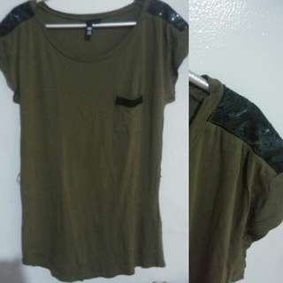 H&M Army Green Blouse