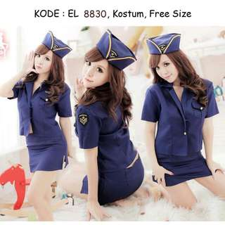 Halloween Stewardess Costume