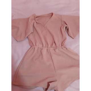 Peach / Light Pink Romper