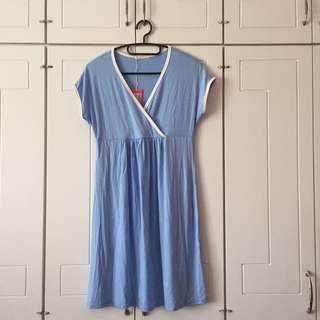 Sky Blue Nursing Dress