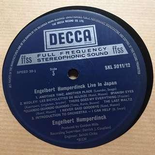 Engelbert Humperdinck Vinyl Record