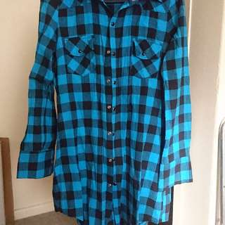 Urban Behaviour Blue checkered Shirt