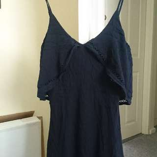 Harper & Me Navy Flowy Dress (size 8)
