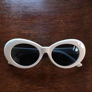 White sunglasses grunge 90s SALE FREE POSTAGE