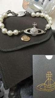Vivienne Westwood 珍珠logo土星手鍊