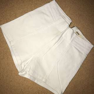 White High Waisted Denim shorts size 8