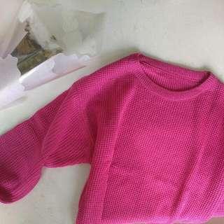 Shocking Pink Crop Sweater