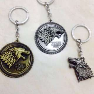 Game Of Thrones Metal Keychain