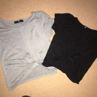 Miss guided Crop tops size 6