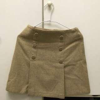 短裙。毛料。M