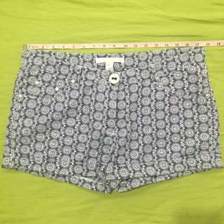 Blue Eyelet Short-Shorts (Kamiseta)