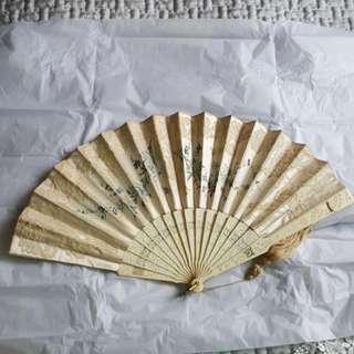Antique 19th Century Silk Hand Fan