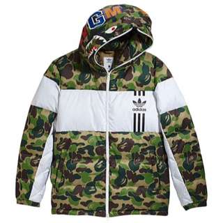 BAPE X Adidas Down Jacket