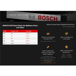 Bosch EFB MF Batteries