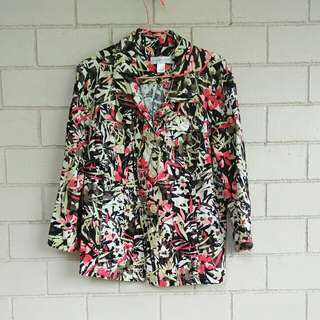 Floral Blazer/Smart Casual Jacket