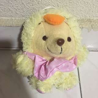 Pooh in Chick Costume