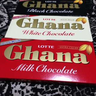 Ghana Milk, White And Black Chocolate