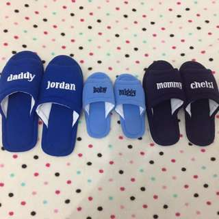 Personalised indoor slippers