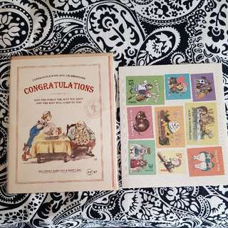 Alice In Wonderland Vintage Greeting Card