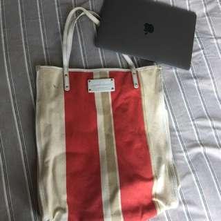 Kate Spade Canvas X Leather bag