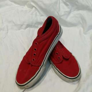 Authentic Vans Red Shoes