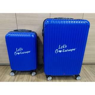 BN Blue Four Wheel Luggage Bag