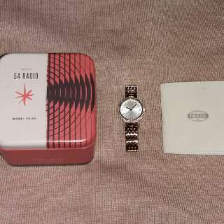 Fossil 54 Radio Watch Color Gold