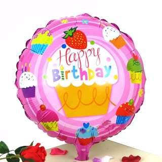 Happy Birthday Round Foil Ballon