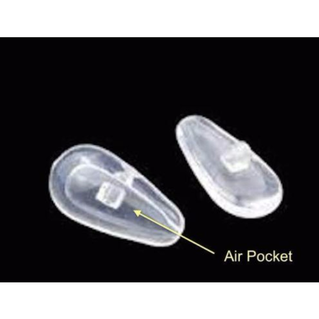 1x Pair Spectacles Nose Pads Soft Silicone Air Cushion Pads Screw Type