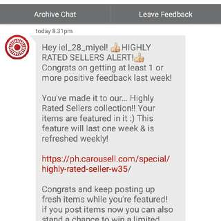Highly Rated Seller :-)